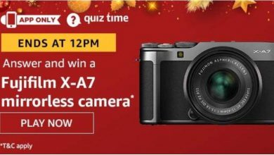 Photo of Amazon Quiz 17th December 2019 – Answers And Win Fujifilm X-A7 Mirrorless Camera