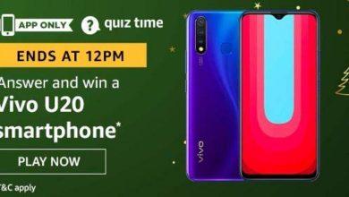 Vivo U20 Smartphone Amazon Quiz