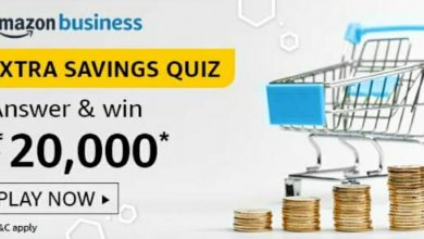 Photo of Amazon Extra Savings Quiz Answers: Play And Win 20,000 Rs Pay Balance
