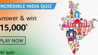 Photo of Amazon Incredible India Quiz Answers: Play And Win 15,000 Rs (6 Prizes)