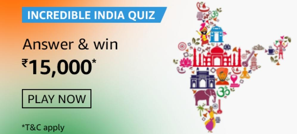 Amazon Incredible India Quiz Answers