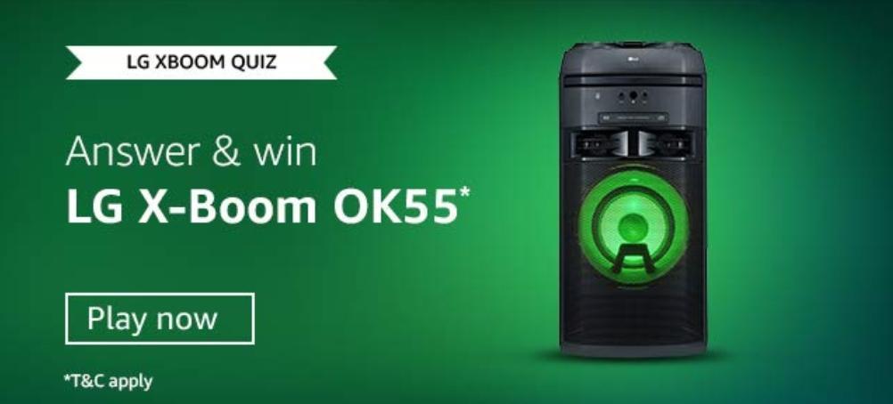 Amazon LG XBOOM Quiz Answers
