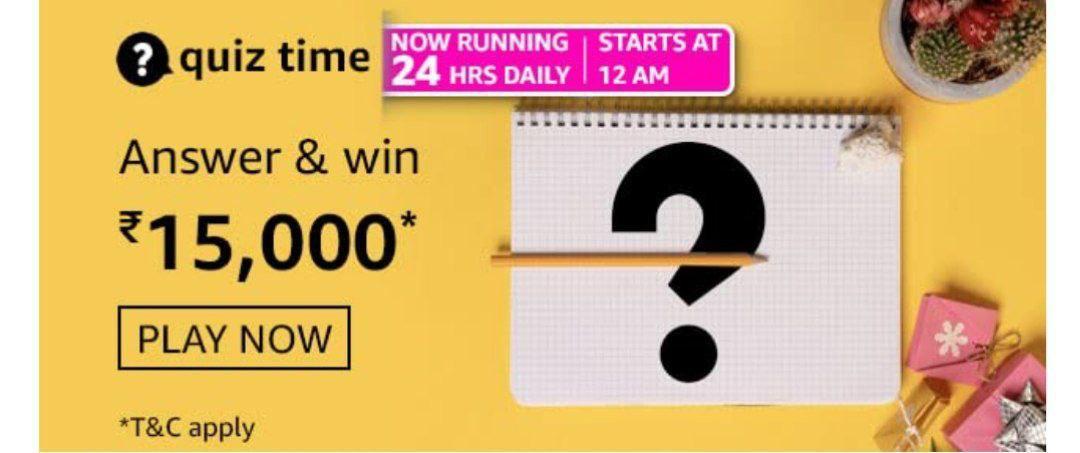Amazon quiz answer and win 15000 pay balance