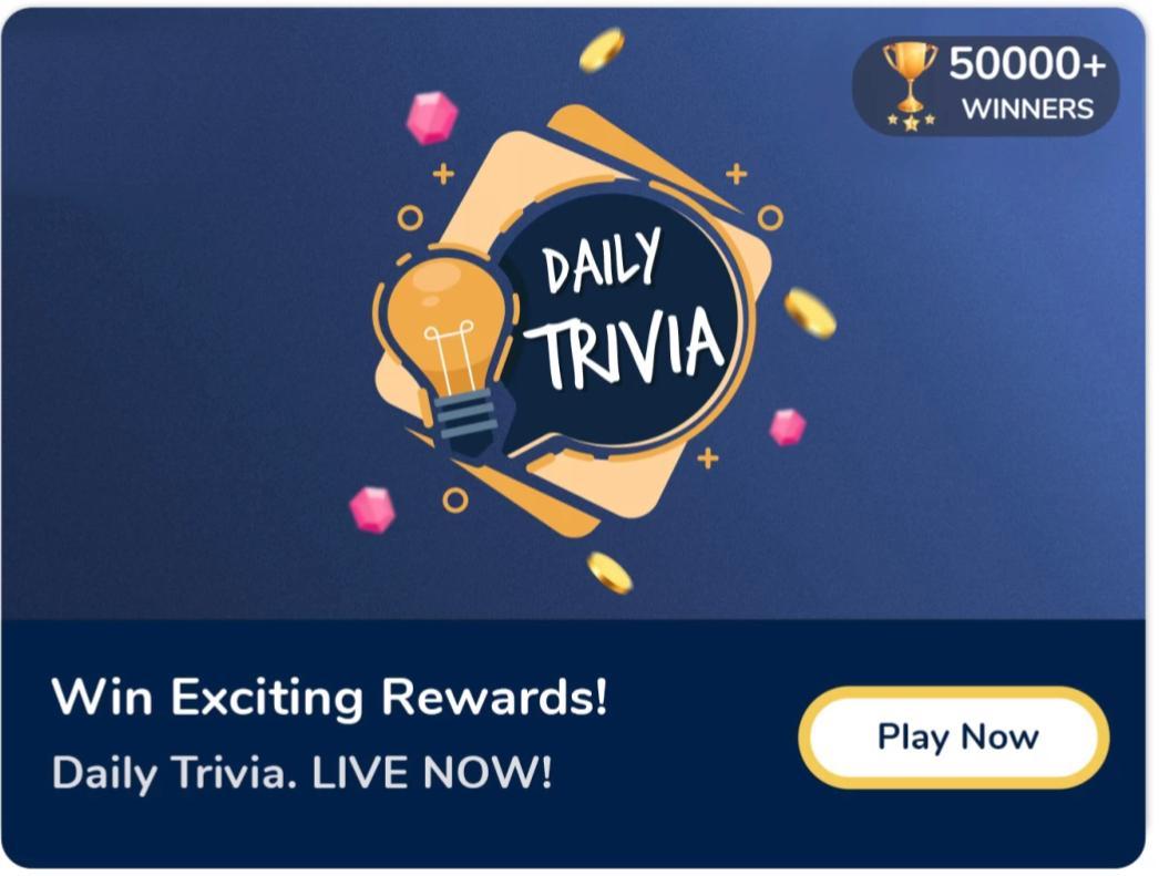 Flipkart daily Trivia