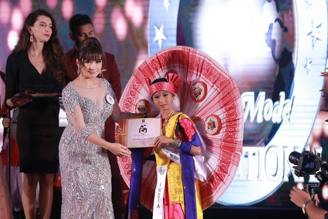 SUHANI BEHURA, crowned as 1st RUNNER UP in pre teen category of VIRUS FILM & ENTERTAINMENT BEAUTY PAGEANT 2021