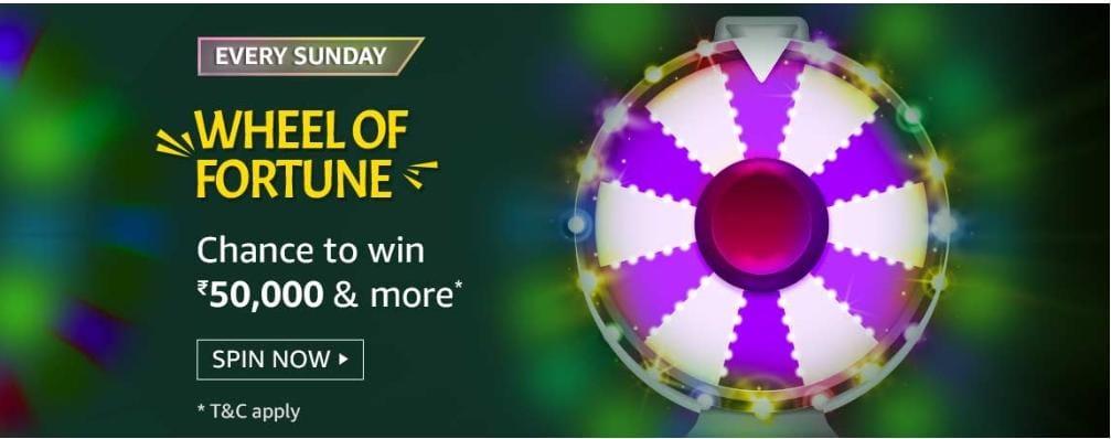 Amazon 13th June 2021 Wheel Of Fortune Quiz Answers