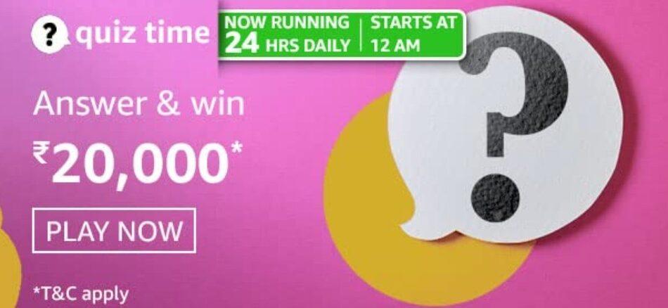 amazon daily quiz win