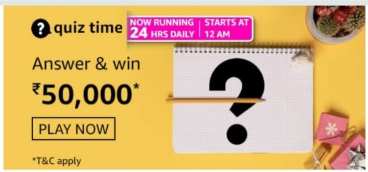 Amazon Daily Quiz Answers 25th August 2021