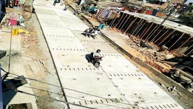 Photo of PWD Is now replacing the faulty concrete panels in Nagpur