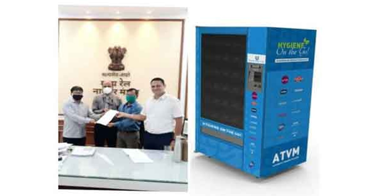Automated mask, sanitizer vending machines installed at Nagpur Stn