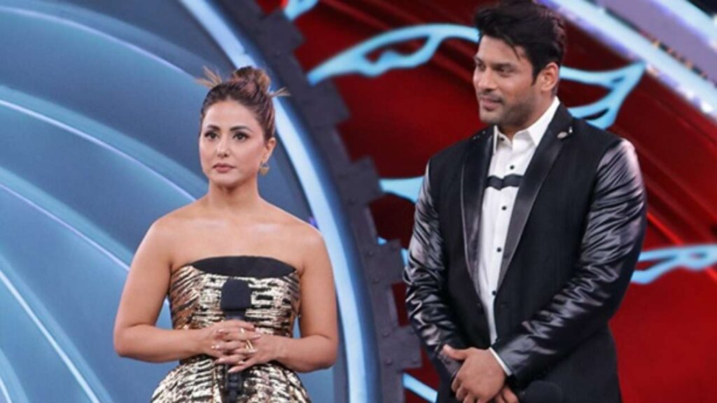 hina khan and sidharth shukla on bigg boss 14