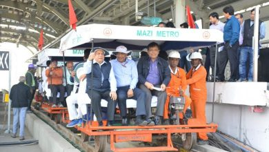 Photo of Nagpur Maha Metro at Aqua Line can run at 80 kmph