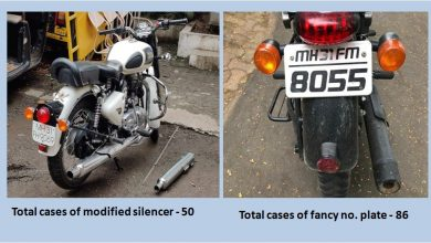 Photo of Nagpur Police Launches Special Drive Against Bikes with Modified Silencer
