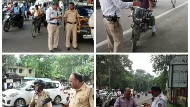 Photo of Nagpur Police Crackdown Violators on 1st day of Janta Curfew