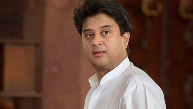 Saffron party leader Jyotiraditya Scindia meets RSS chief and founder