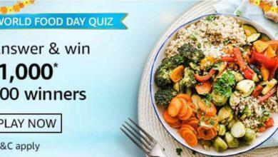 Amazon world food day quiz